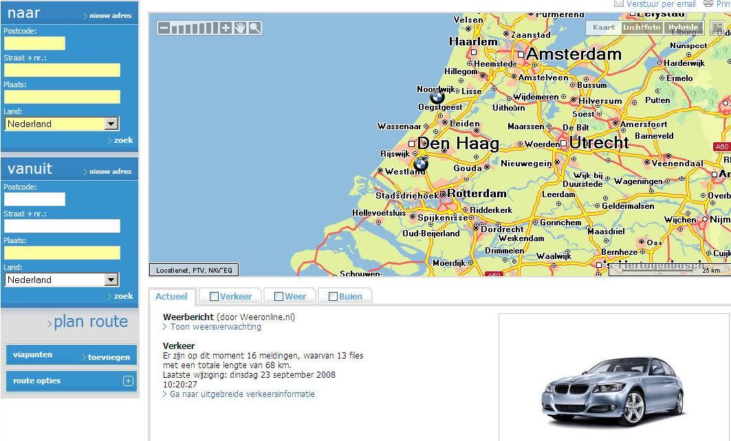 BMW advertentie routenet